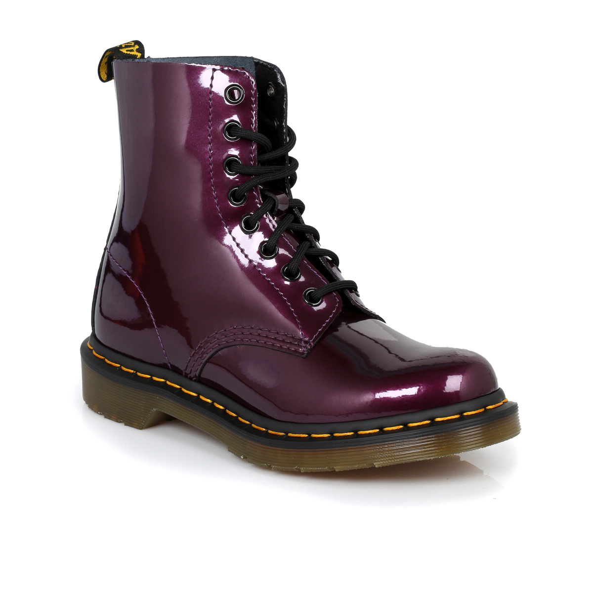 dr martens purple pascal leather womens boots sizes 3 9 ebay. Black Bedroom Furniture Sets. Home Design Ideas