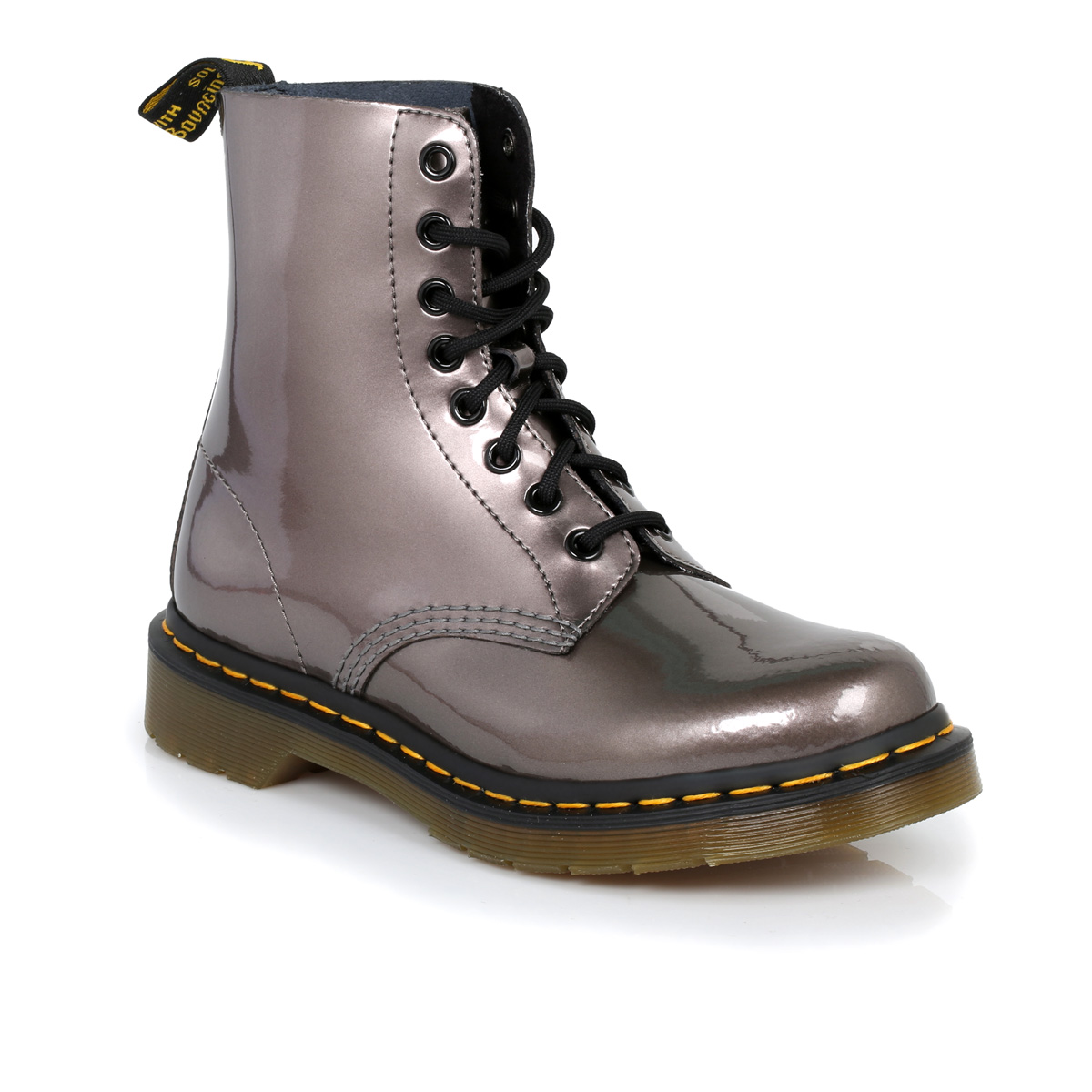 dr martens metallic pewter pascal leather boots sizes 3 9 ebay. Black Bedroom Furniture Sets. Home Design Ideas
