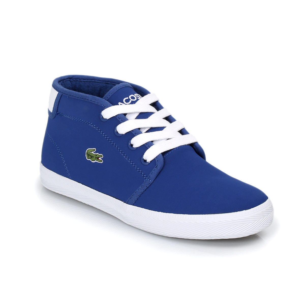 lacoste ampthill blue white kids trainers sneakers shoes