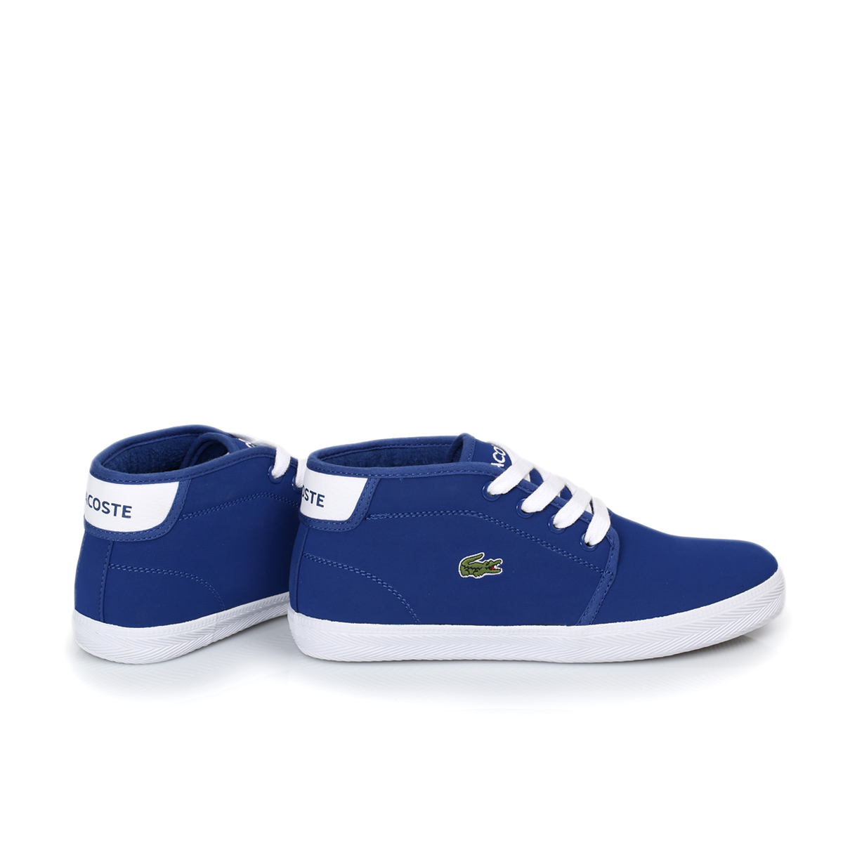 Lacoste Ampthill Blue White Kids Trainers Sneakers Shoes ...