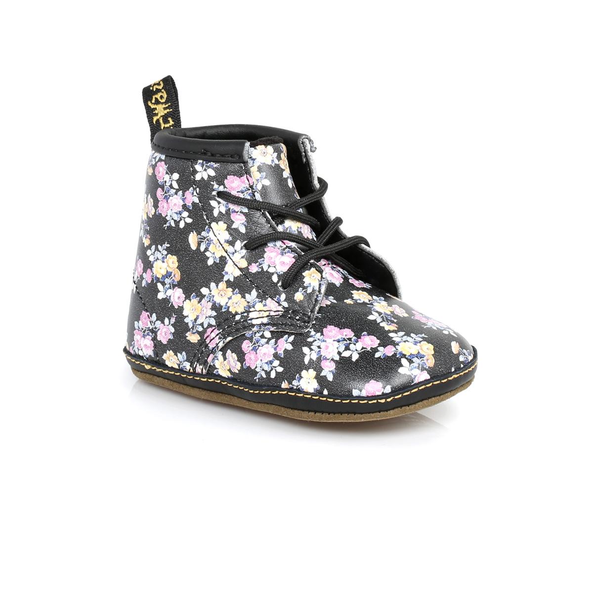 Dr Martens Baby Black Floral Auburn Kids Leather Boots sizes 0-3 ...