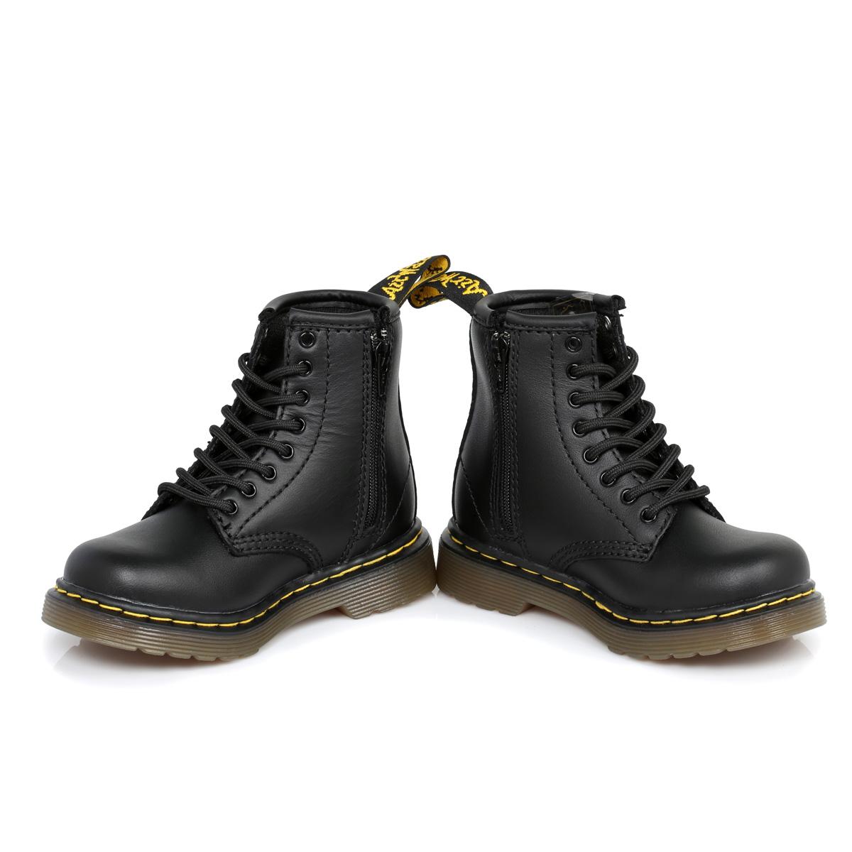 dr martens black brooklee leather boots sizes 6 9 ebay
