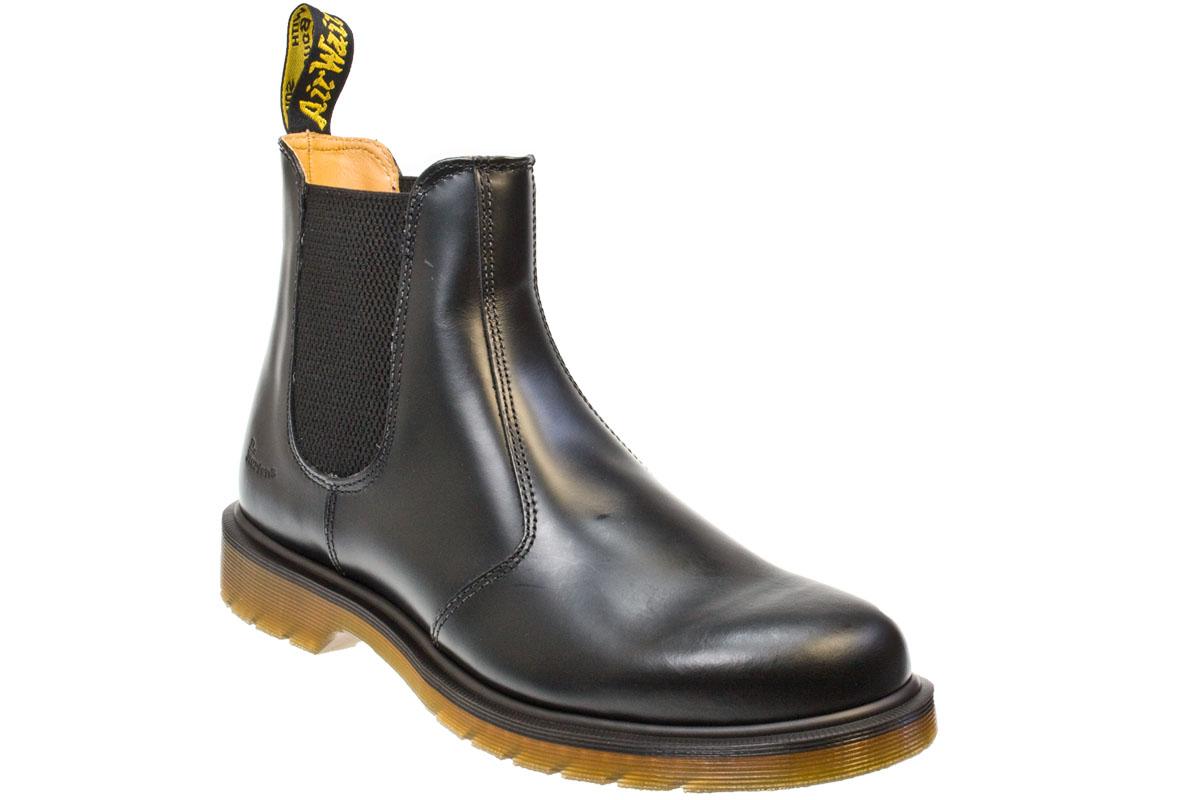 dr martens 2976 smooth black unisex leather chelsea ankle boots ebay. Black Bedroom Furniture Sets. Home Design Ideas