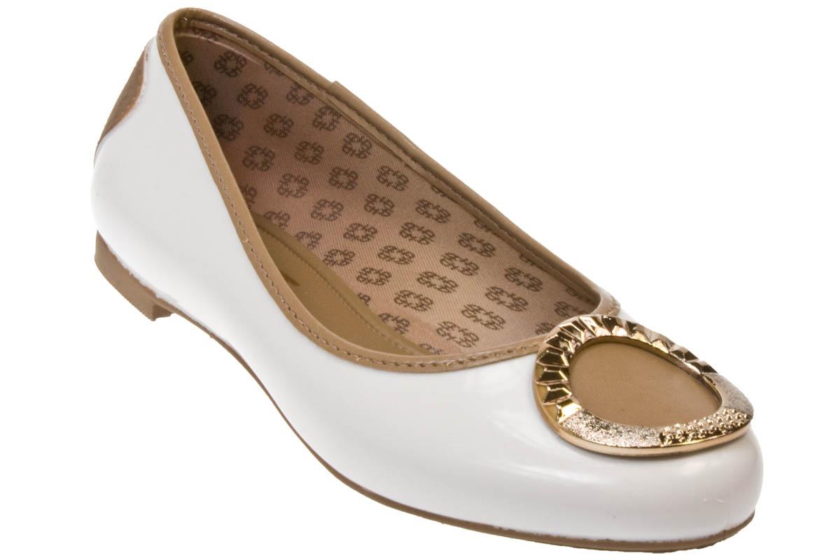 Grendha Hickmann Hilton Beige White Flat Pump Shoes | EBay