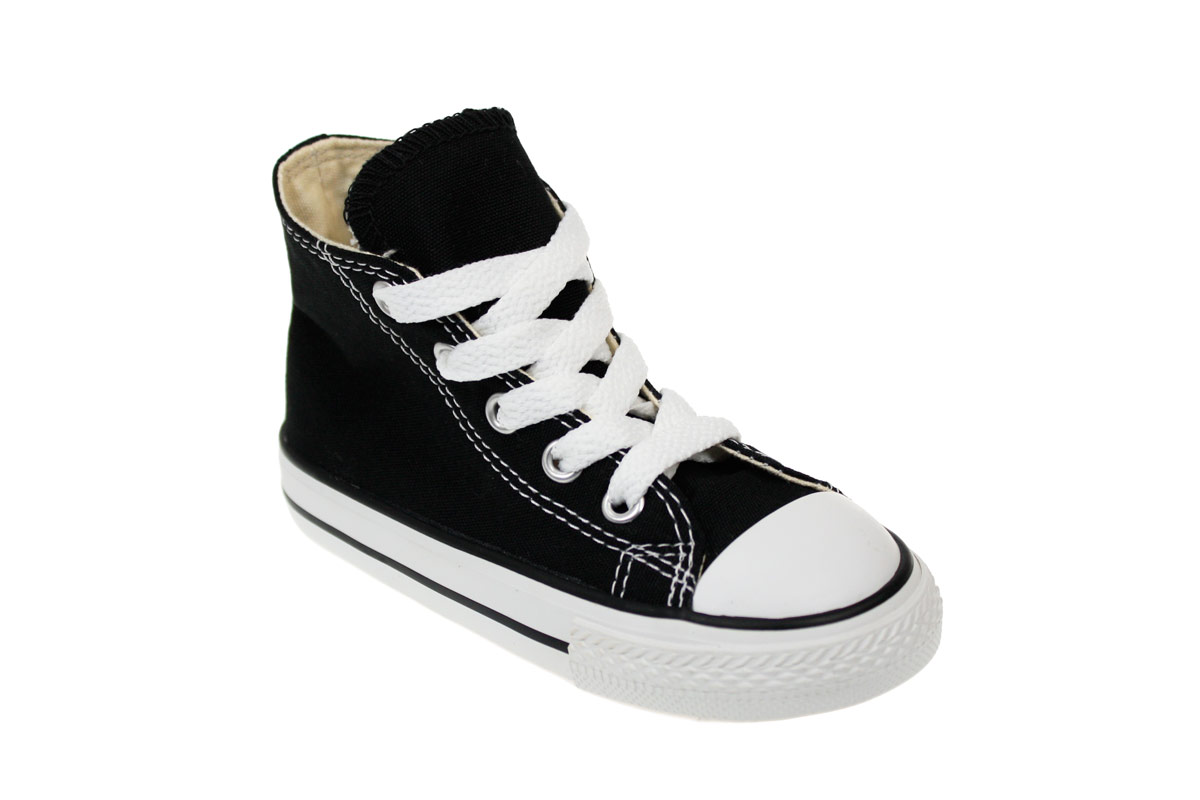 Converse CT Toddler Kids Black Canvas High Top Trainers ...