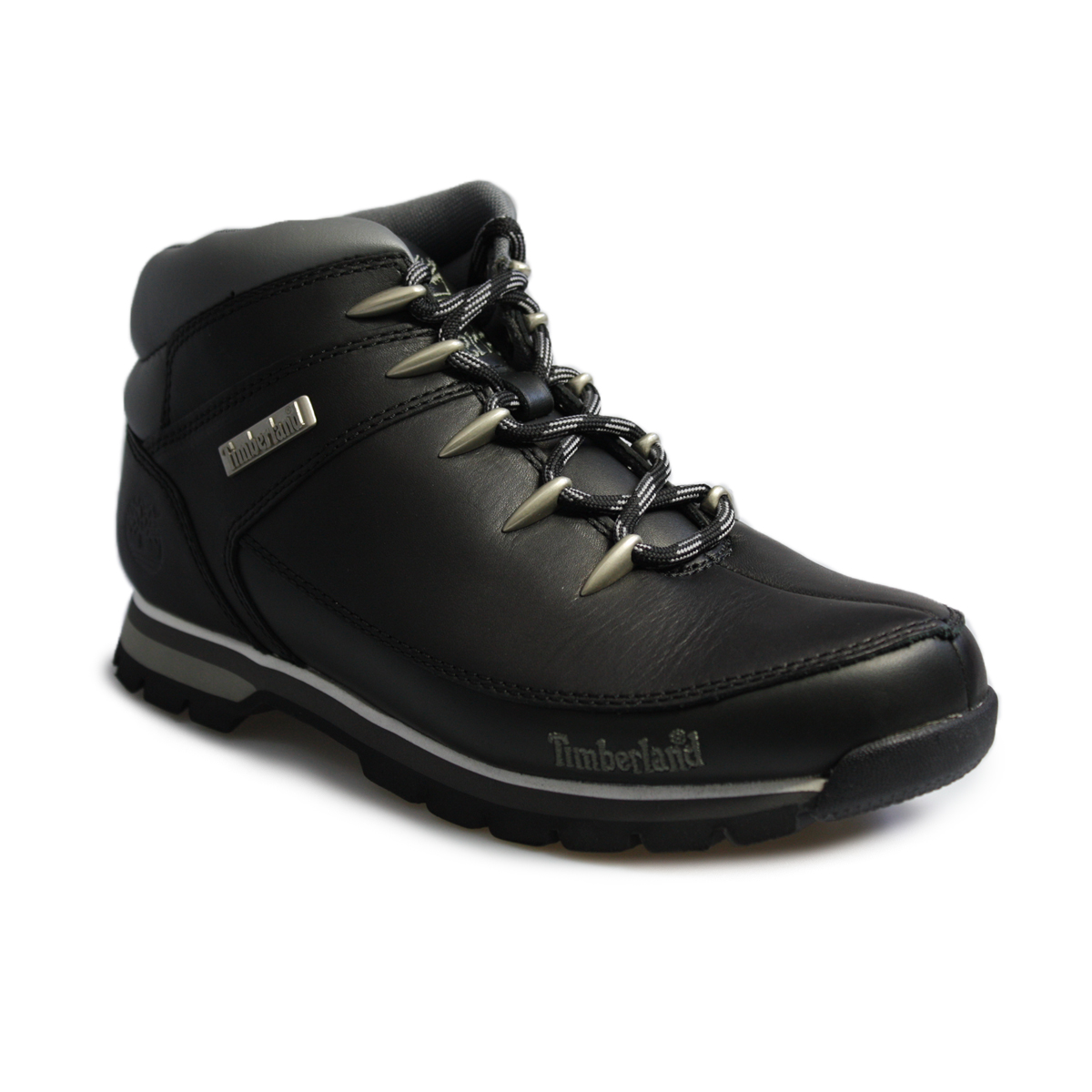 timberland sprint black grey leather boots shoes size