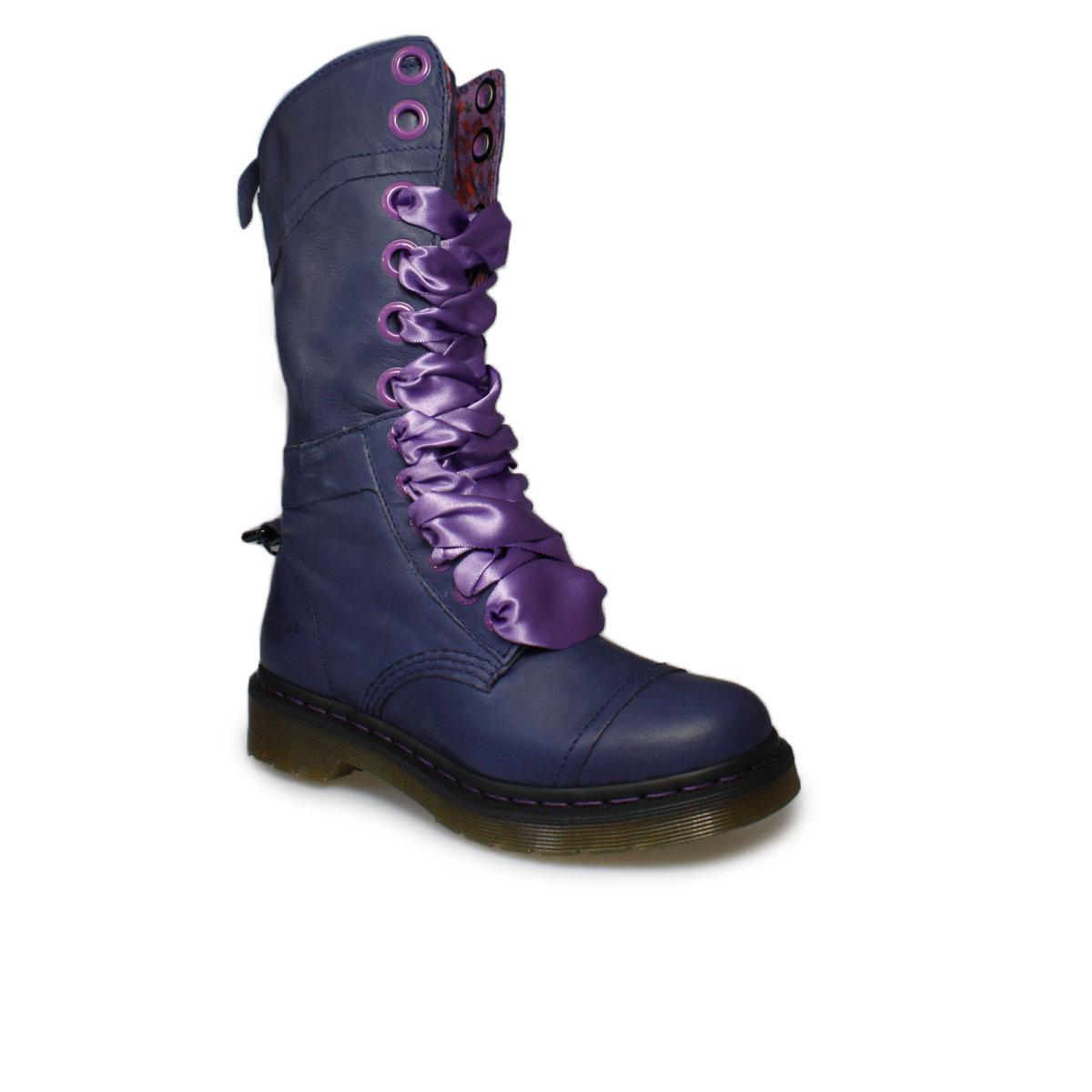 Dr Martens Triumph 1914 Navy Blue Leather Mid-Calf Boots ...