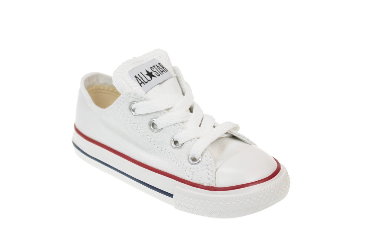 Converse CT Toddler Kids White Canvas Low Top Trainers ...