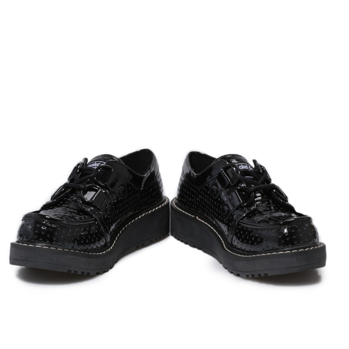 Image is loading Rocket-Dog-Brogan-Patent-Leather-Womens-Black-Creepers