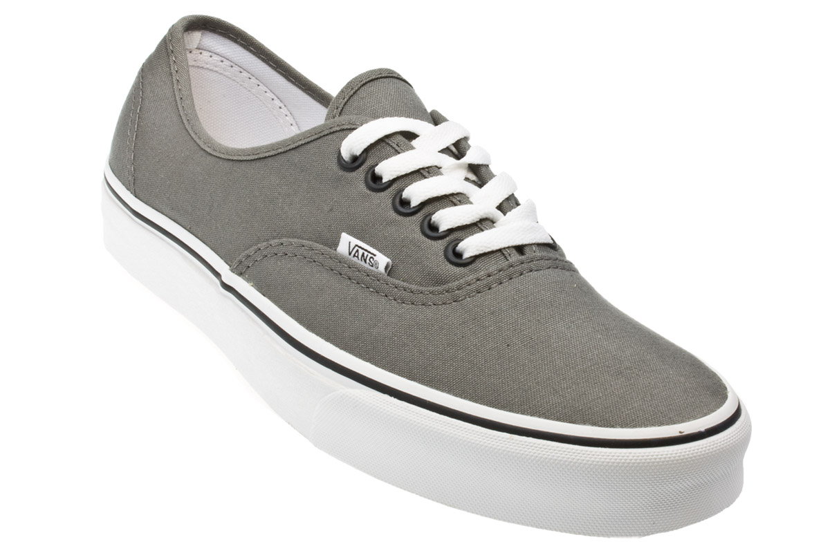 Vans Authentic Grey White Mens Womens Unisex Sneakers Trainers Shoes