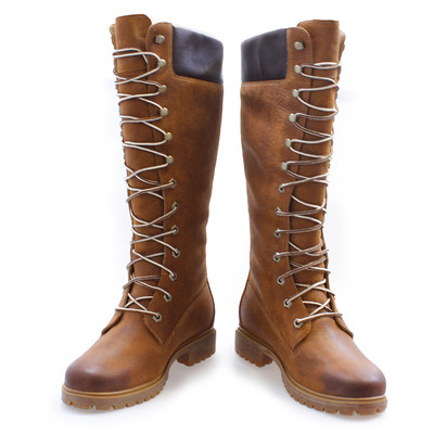 timberland 14 inch boots brown