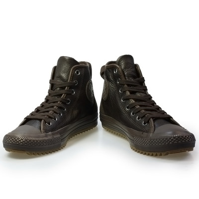 converse ct hollis hi brown leather mens womens boots