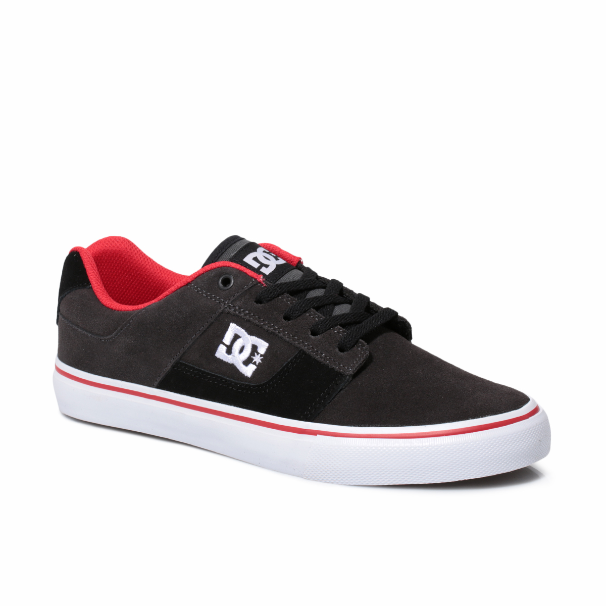 dc shoes high tops red and black. image is loading dc-shoes-bridge-suede-black-red-mens-trainers- dc shoes high tops red and black \