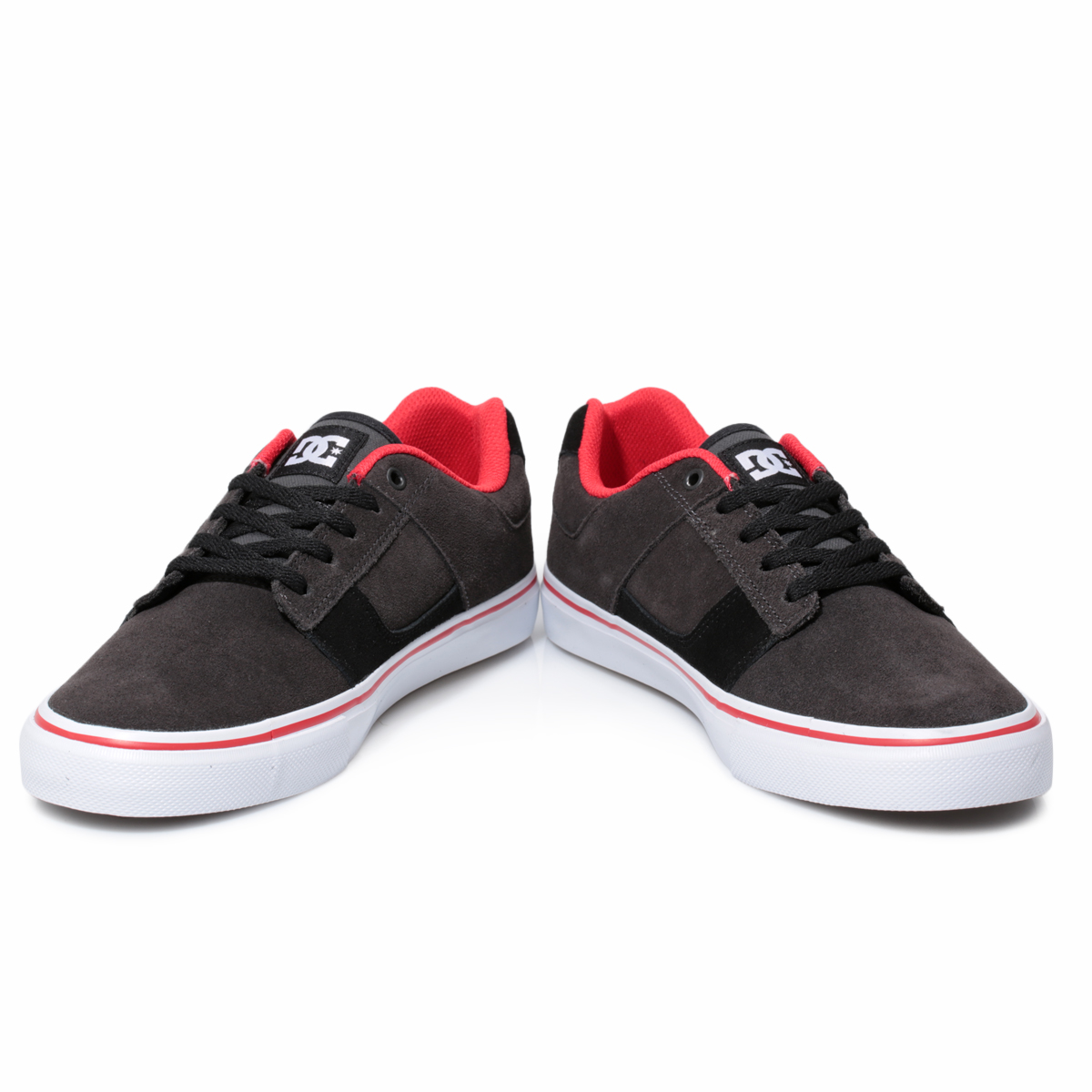 DC Shoes Bridge Suede Black Red Mens Trainers Sneakers Shoes Size ...