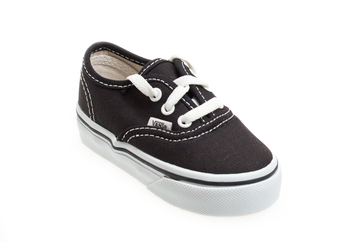 Vans Authentic Black White Toddlers Kids Sneakers Trainers