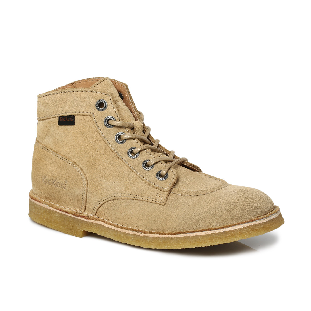 Kickers Beige Brown Kick Legend Suede Mens Ankle High Boots Shoes Size 7-11 | EBay