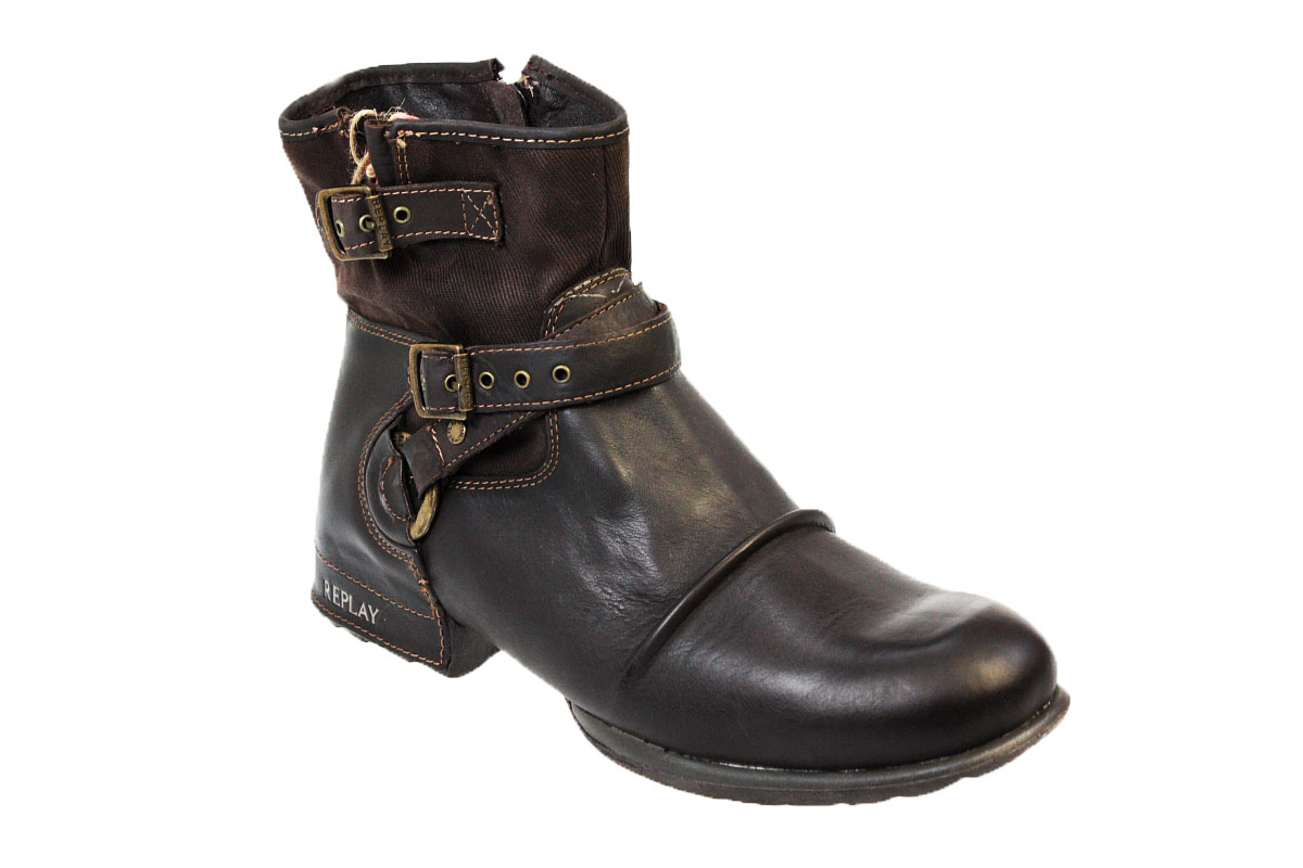 replay carbon mens sizes leather ankle boots ebay