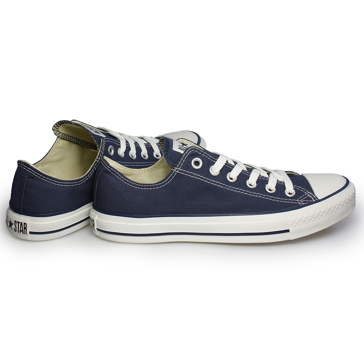 Converse All Star Navy Blue Canvas Trainers Sneakers Shoes ...