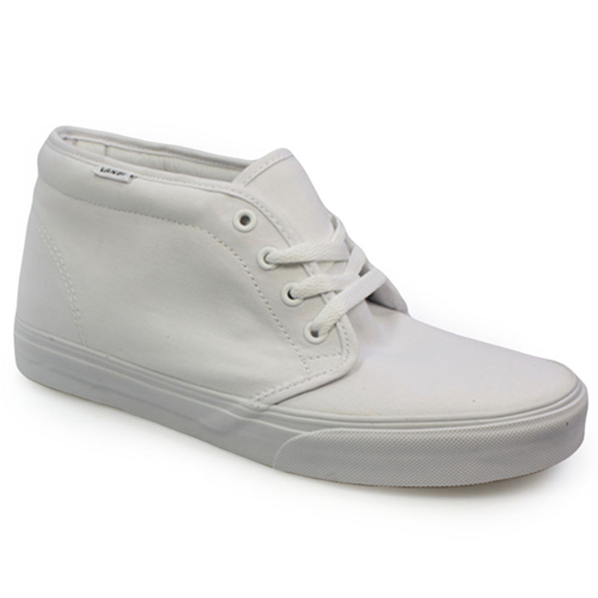 Vans Chukka Boot Mens Womens White High Top Canvas Trainers Shoes ...