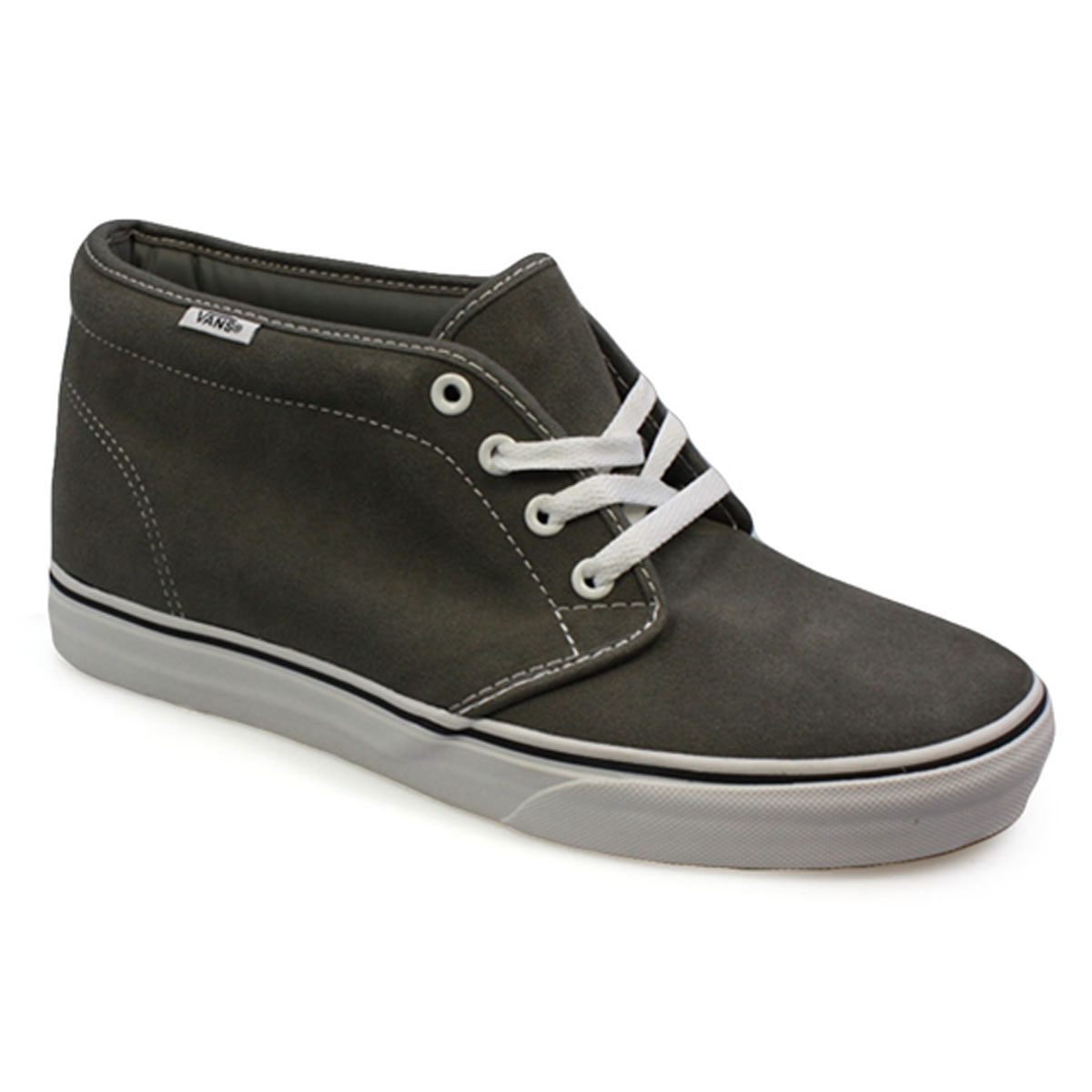 Vans Chukka Boot Grey White Mens Womens High Top Canvas Trainers ...