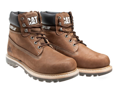 brown caterpillar boots