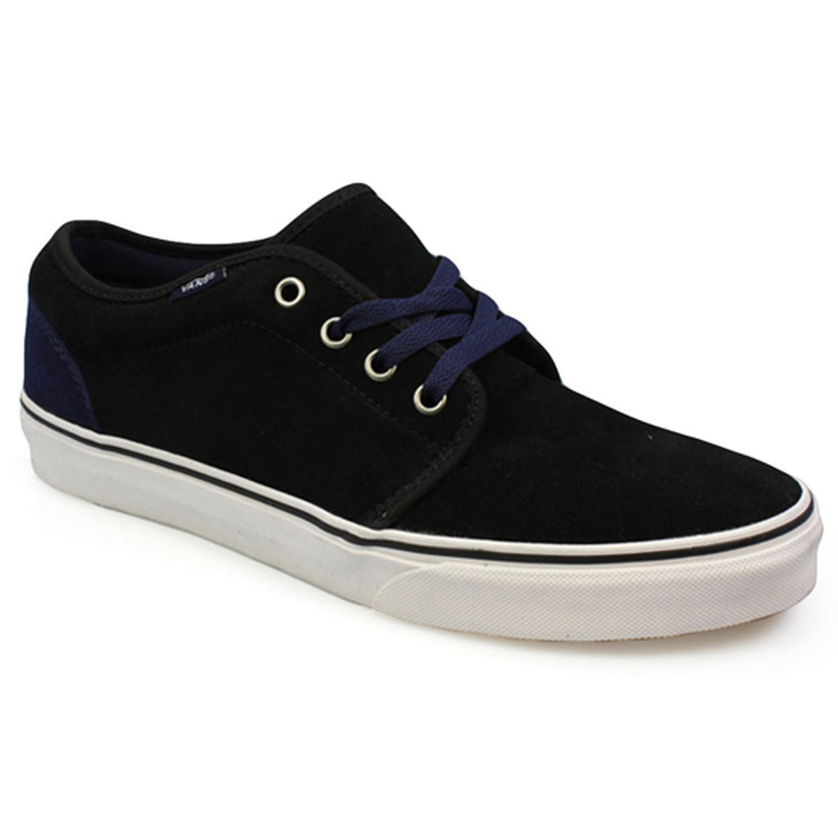 vans 106 vulcanized mens womens black blue suede canvas