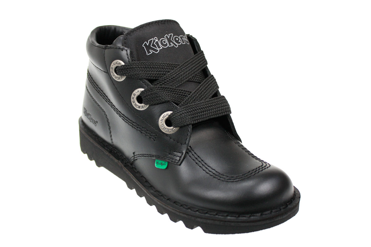 Kickers Kick Hi Phat Black Leather Ankle Boots Mens Size 6 ...
