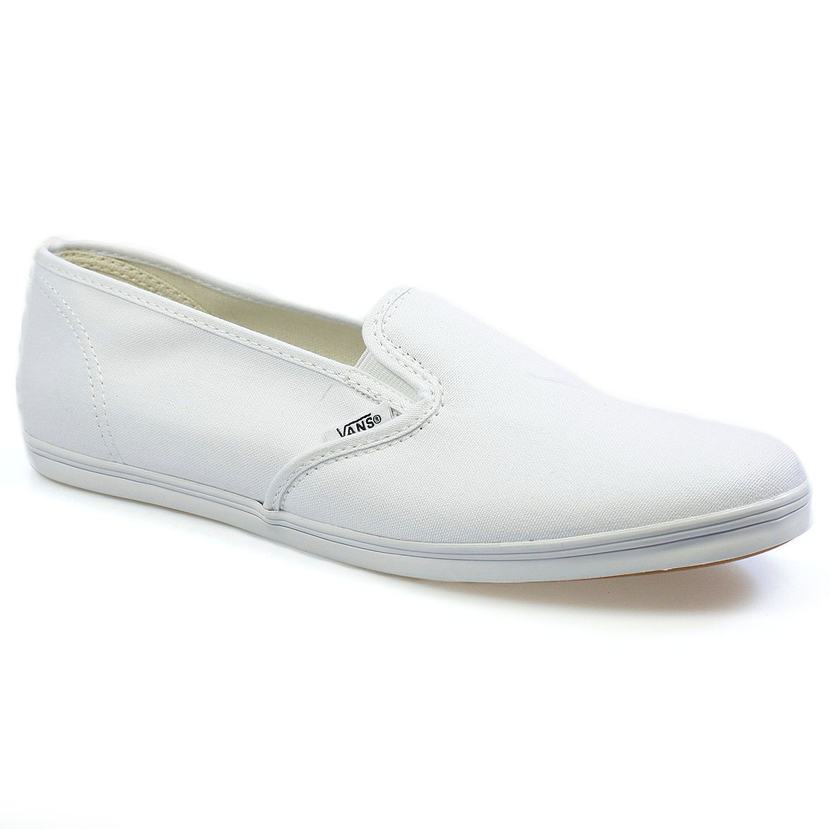 vans lo pro womens white canvas slip on low top trainers