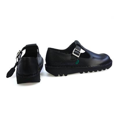 Kick lo Aztec W Core Black Leather Buckle Womens Shoes Size 3 - 8