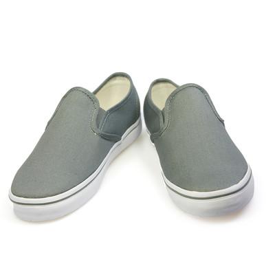 vans grey slip ons womens