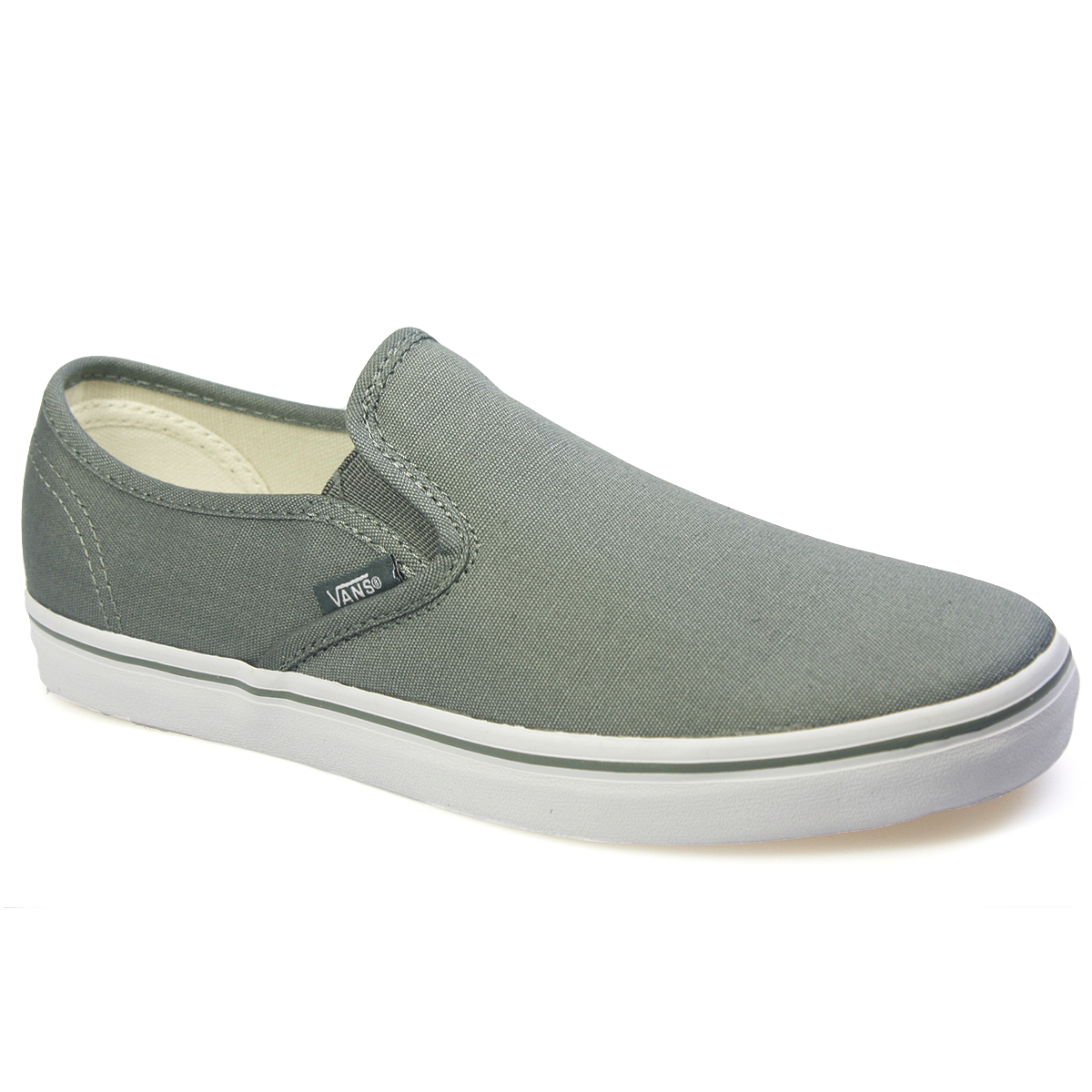 vans lp slip on mens womens castor grey canvas trainers. Black Bedroom Furniture Sets. Home Design Ideas