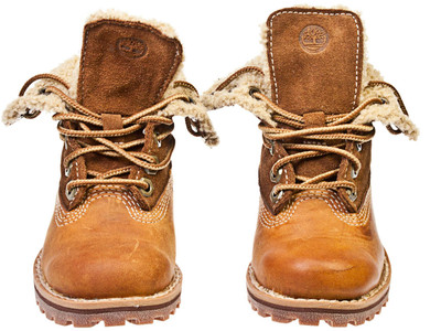 Timberland Authentics Shearling Toddler Kids Brown Leather