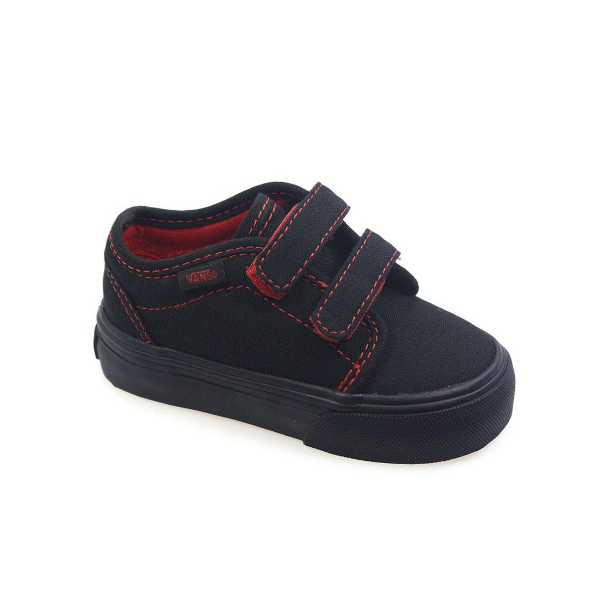 Vans Black Velcro Shoes Uk