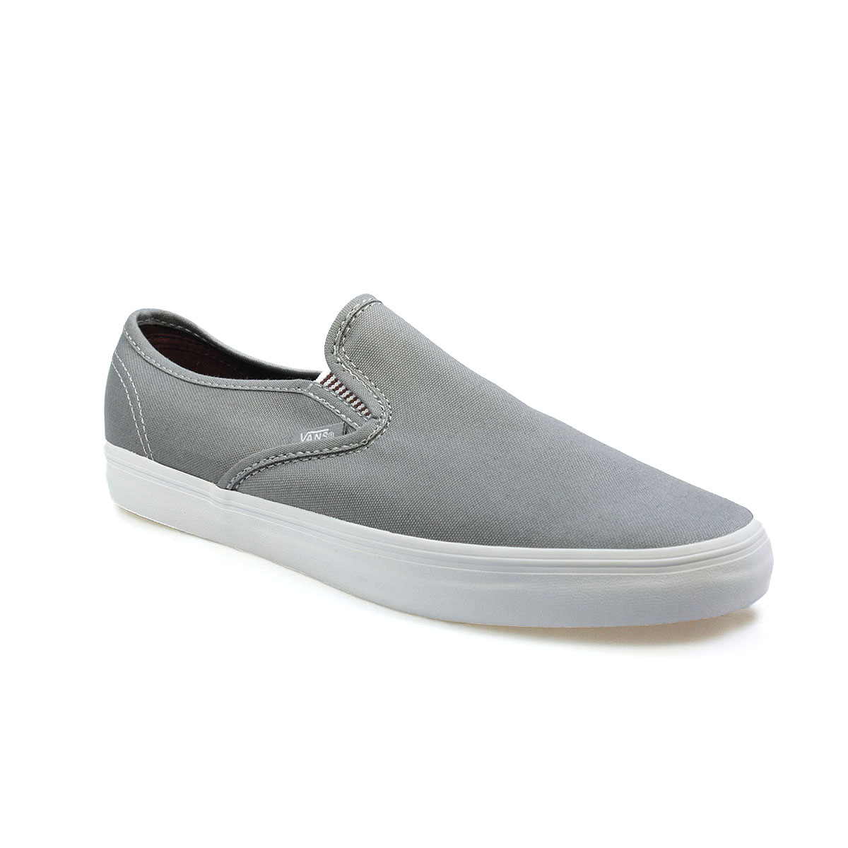 vans lp slip on mens stripe grey white canvas shoes