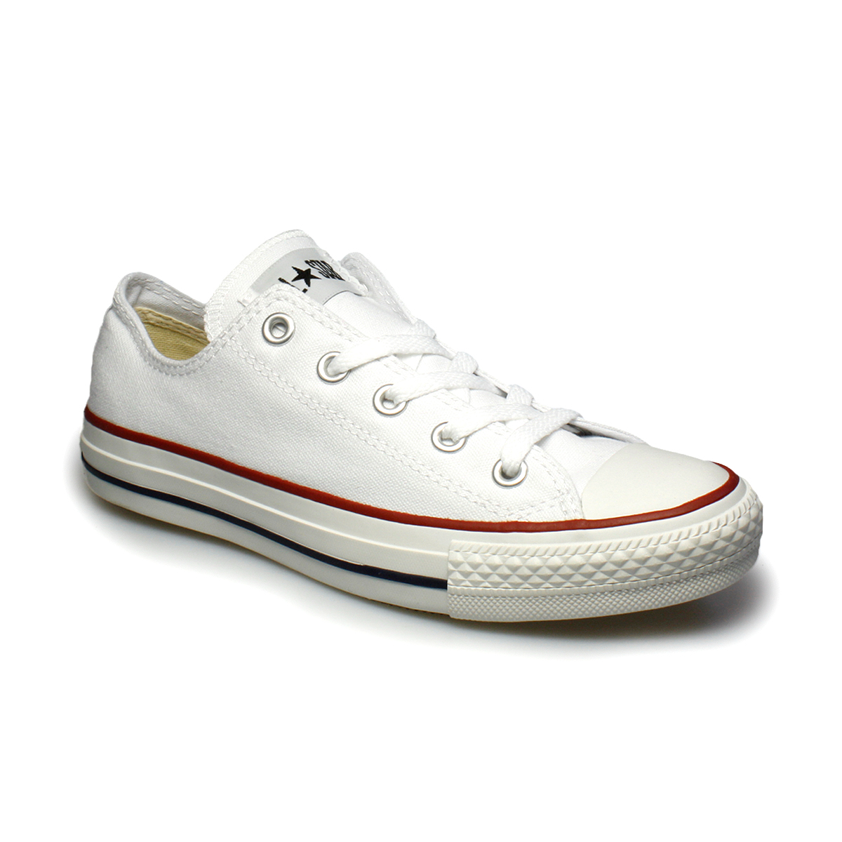 Converse All Star Lo White Canvas Trainers Sneakers Shoes ...