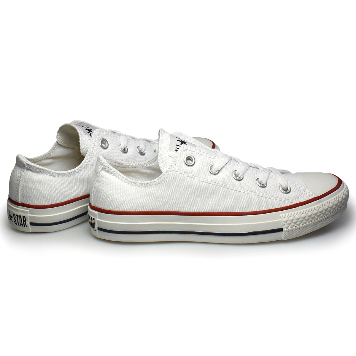 Converse Lo Men Women White Canvas Trainers Sneakers Shoes ...