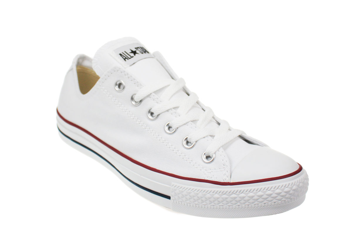 147caf0f76bf Converse All Star Lo White Canvas Trainers Sneakers Shoes Mens ...
