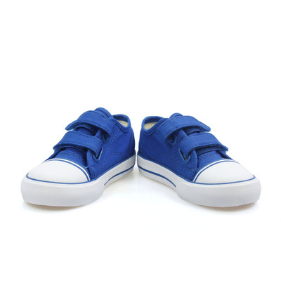 Vans Big School Blue White Toddlers Kids Velcro Trainers