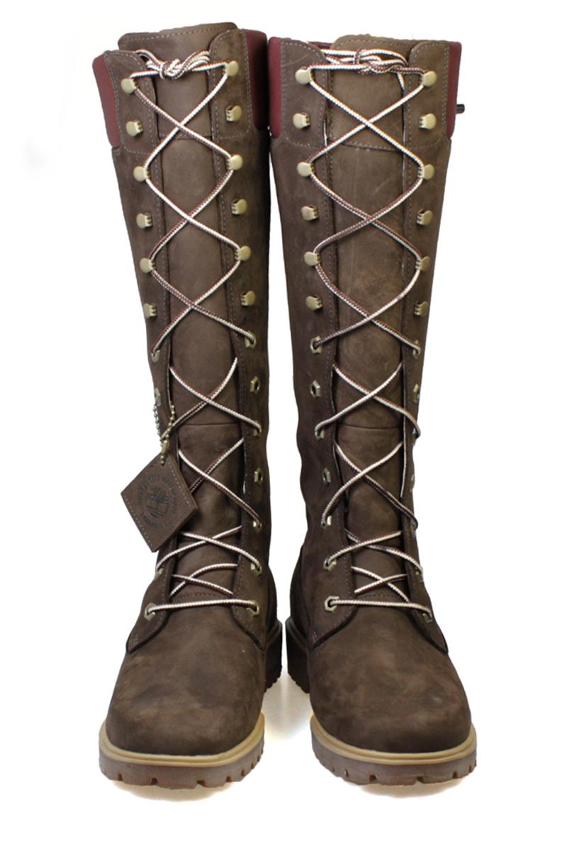 timberland 14 inch boots dark brown