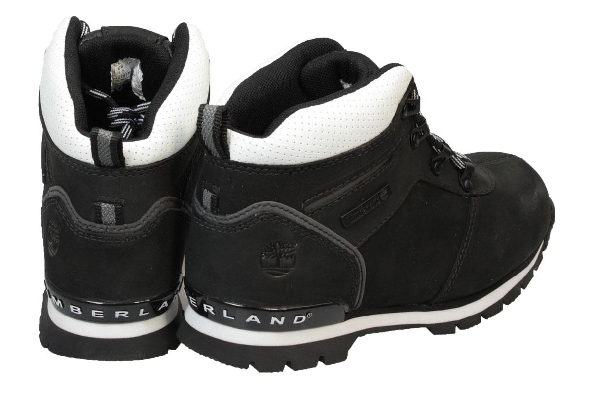 timberland splitrock 2 youth black white leather