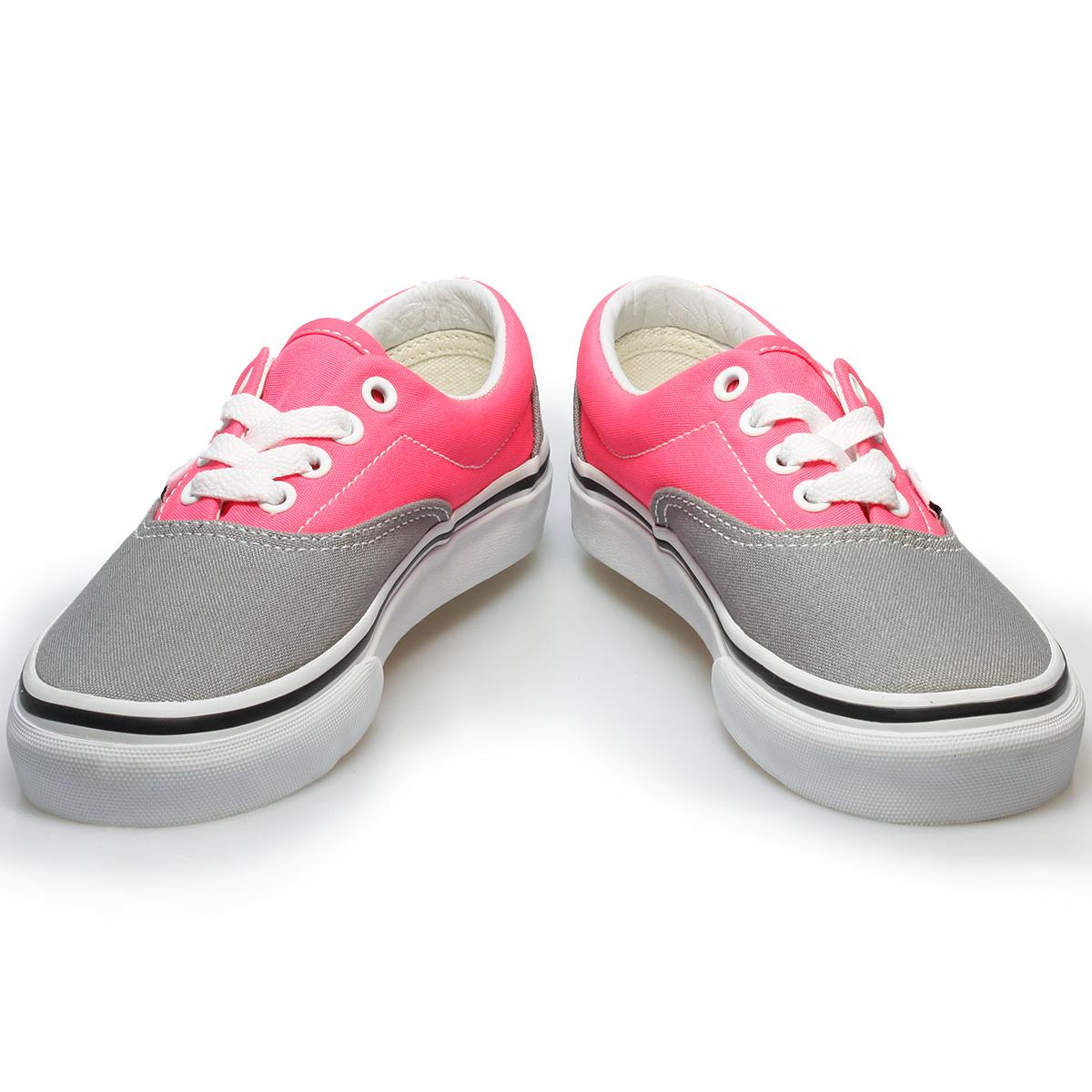 Vans Era 2 Tone Frost Grey Pink Juniors Kids Trainers Sneakers Shoes