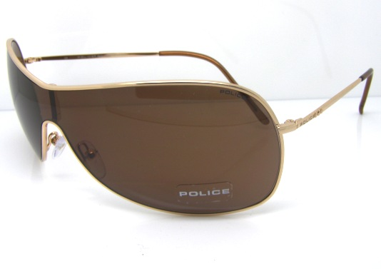 Gold Frame Police Sunglasses : Stunning Police Sunglasses S8416M 300 Brown Gold Authentic ...