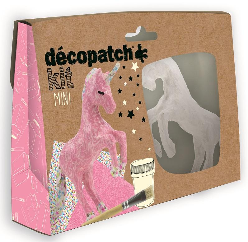 Decopatch unicorn mini kit kit009o papier mache figure for Decopatch papier