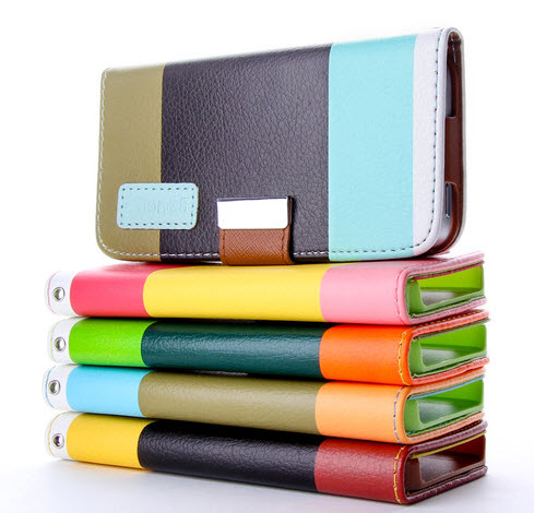 100x-200x-Hybrid-Leather-Flip-Case-Cover-Wallet-Pouch-for-iPhone-5-Wholesale