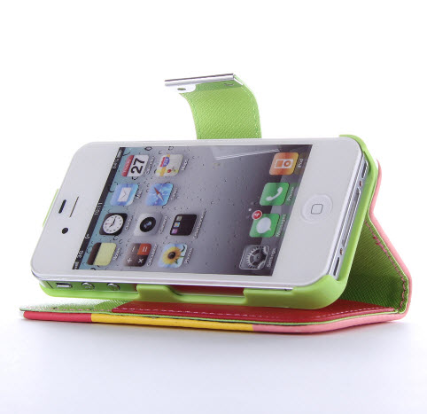 100x-200x-Hybrid-Leather-Flip-Case-Cover-Wallet-Pouch-for-iPhone-4-Wholesale