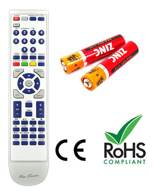 PANASONIC EUR7729KEO Remote Control Replacement with 2 free Batteries
