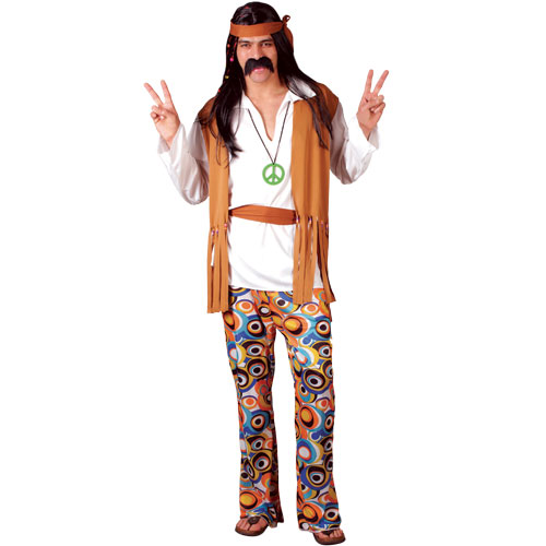 60s-70s-Adults-Hippie-Hippy-Mens-Fancy-Dress-Costume-Groovy-Outfit-Headband