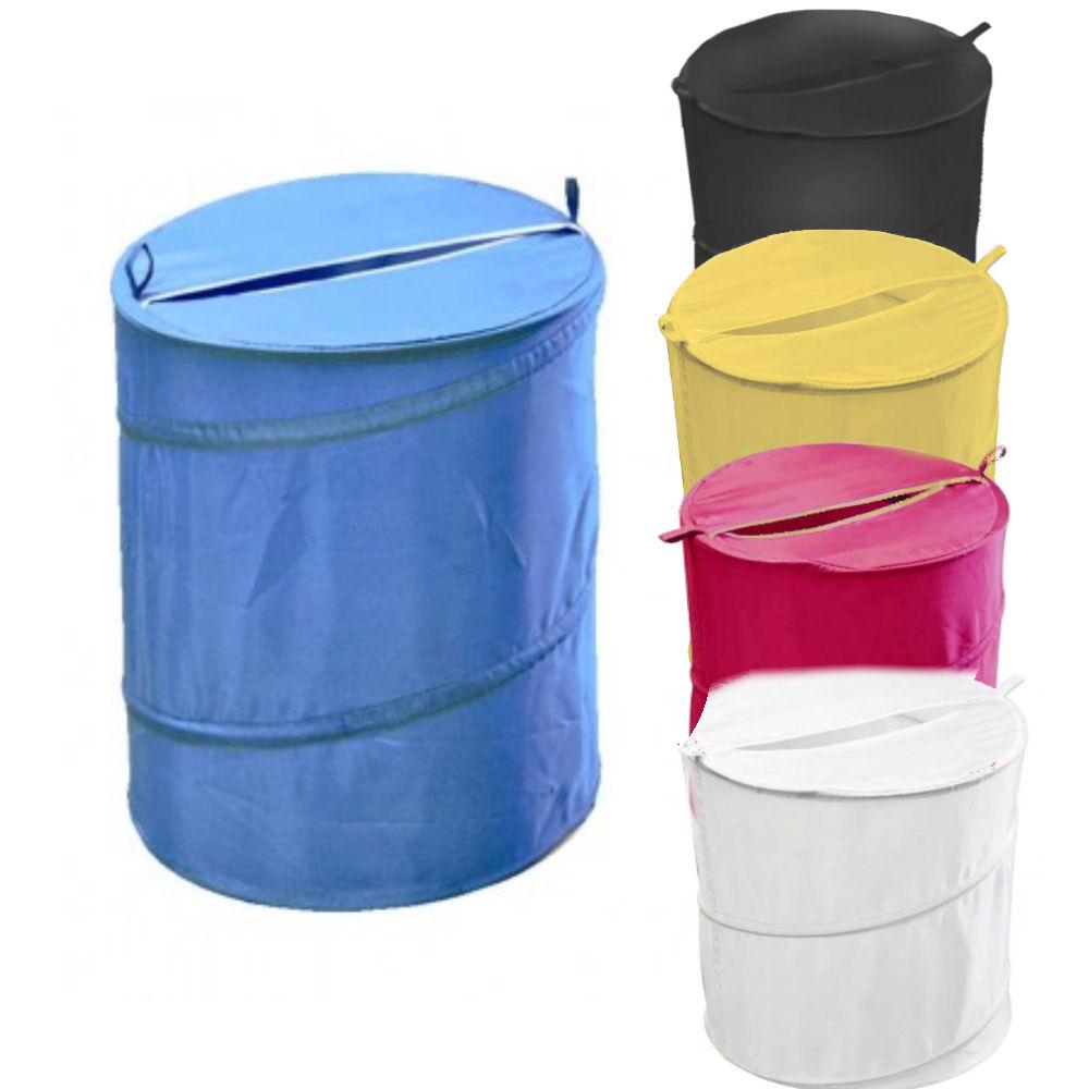 Laundry Bin Folding Pop Up Clothes Storage Linen Basket
