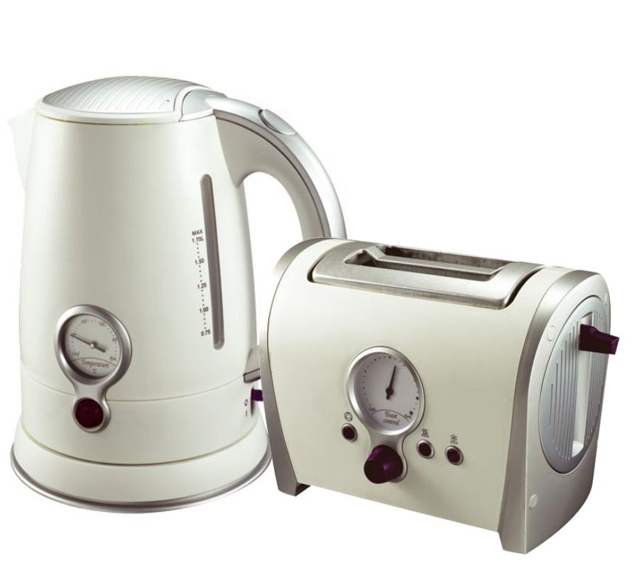 cordless kettle and toaster matching retro off white 2 slice toasters new ebay. Black Bedroom Furniture Sets. Home Design Ideas