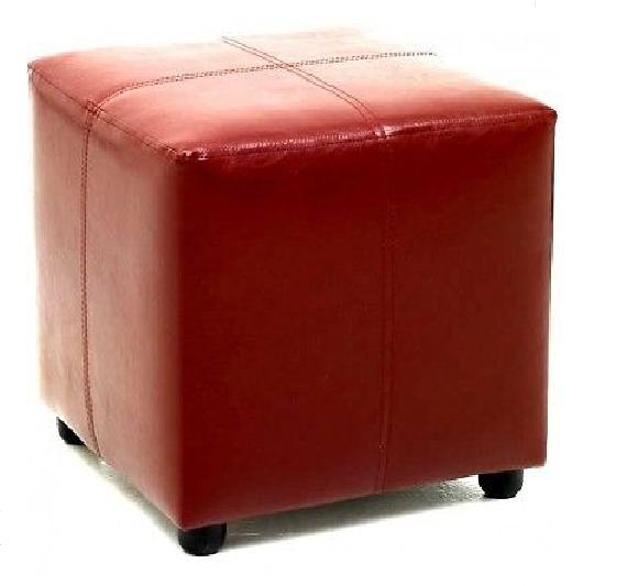 Footstool Cube Faux Leather Foot Stool Furniture Seat